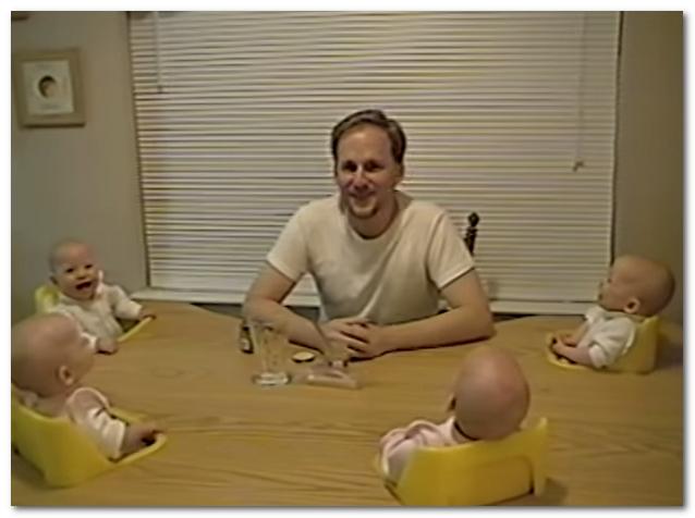 四つ子のパパ 爆笑画像