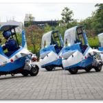 「ブルーインパルスJr.」スクーター版が新宿で展示走行!