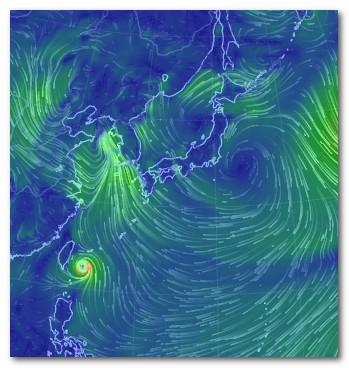 台風6号 Earth