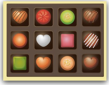 チョコレートの詰め合わせ